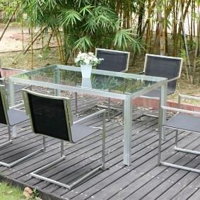 садовая мебель из дерева и металла виды