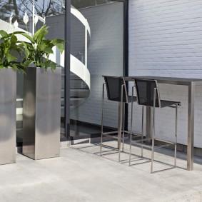 садовая мебель из дерева и металла виды фото