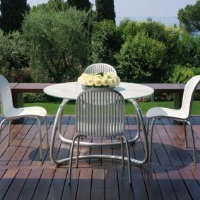 садовая мебель из дерева и металла фото видов