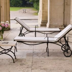 садовая мебель из дерева и металла виды дизайна