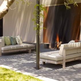 садовая мебель из дерева и металла фото обзор