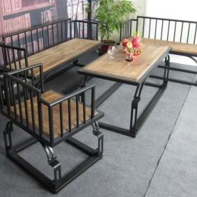 садовая мебель из дерева и металла виды оформления
