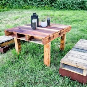садовая мебель из дерева и металла фото