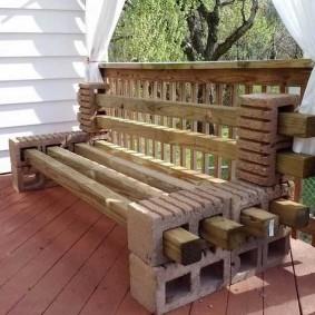 садовая мебель из дерева и металла идеи