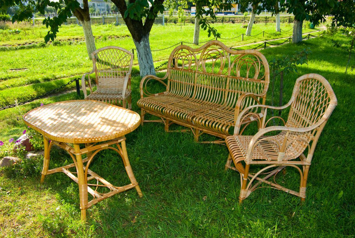 садовая мебель из лозы