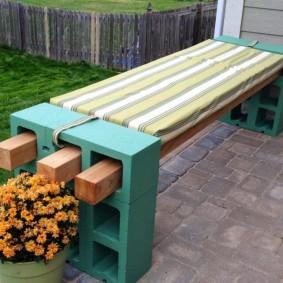 садовая скамья идеи фото