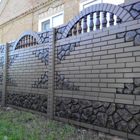секционный забор для дачи фото декора