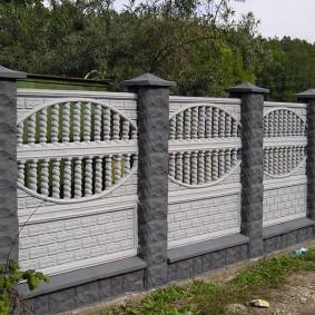 секционный забор для дачи декор идеи