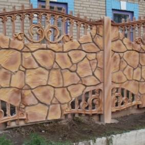 секционный забор для дачи оформление