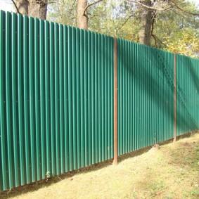 секционный забор для дачи фото оформление
