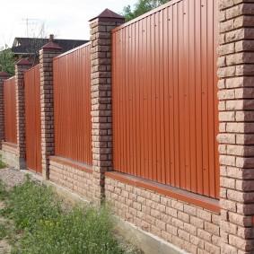 секционный забор для дачи фото варианты