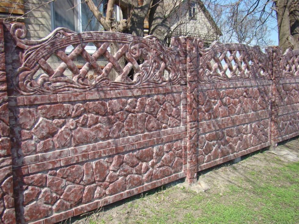 Покраска бетонного забора морилкой варианты фото