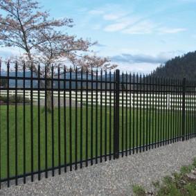 секционный забор для дачи дизайн
