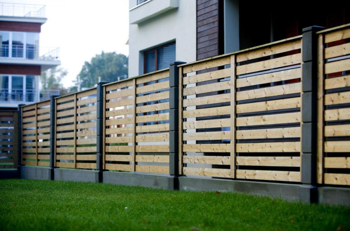 секционный забор из дерева дизайн