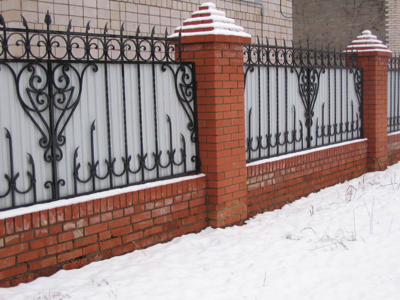 секционный забор ковано сварной идеи