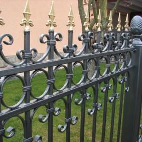 секционный забор ковано сварной фото идеи