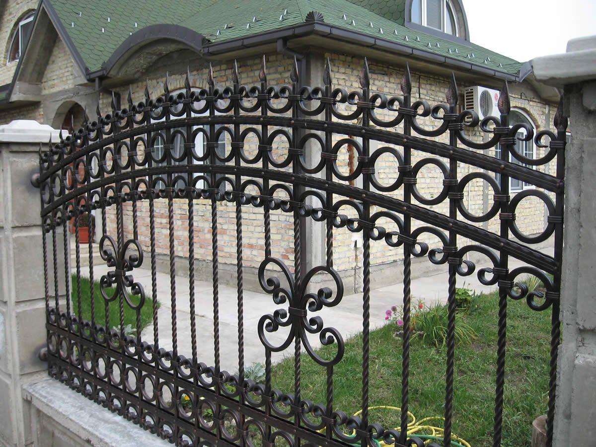 секционный забор ковано сварной фото