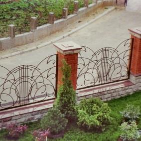 секционный забор металлический