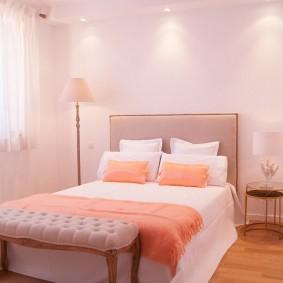 серо розовая спальня дизайн фото