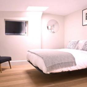 серо розовая спальня дизайн идеи
