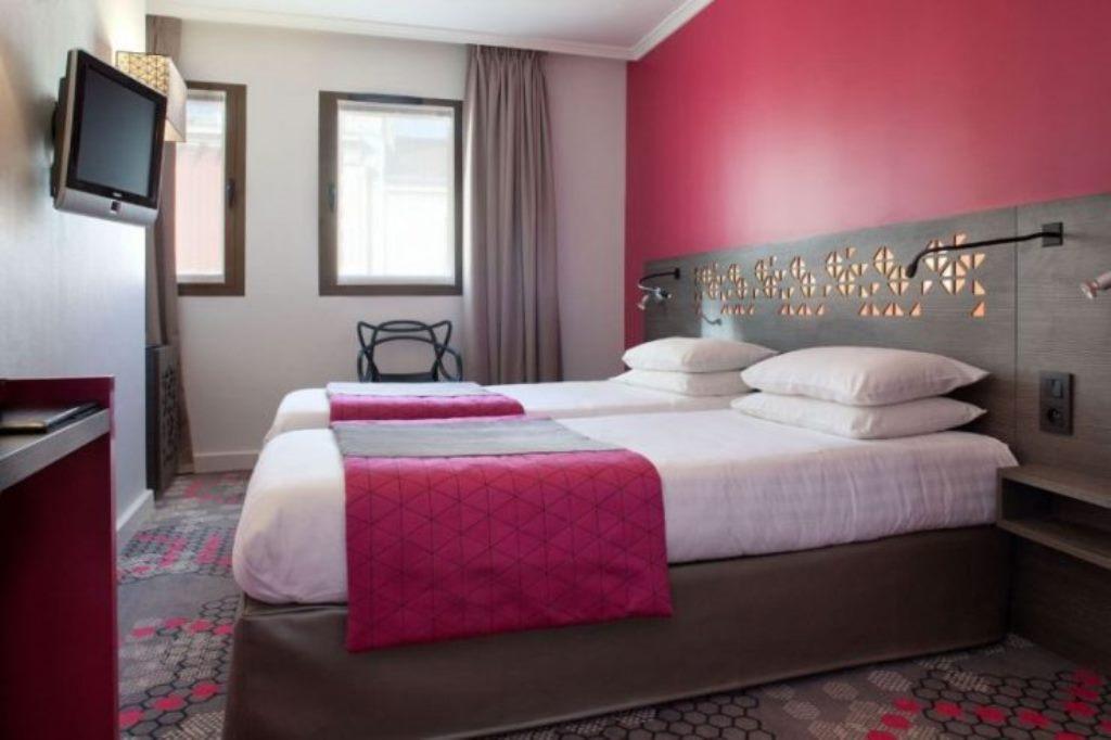 серо розовая спальня фото дизайн