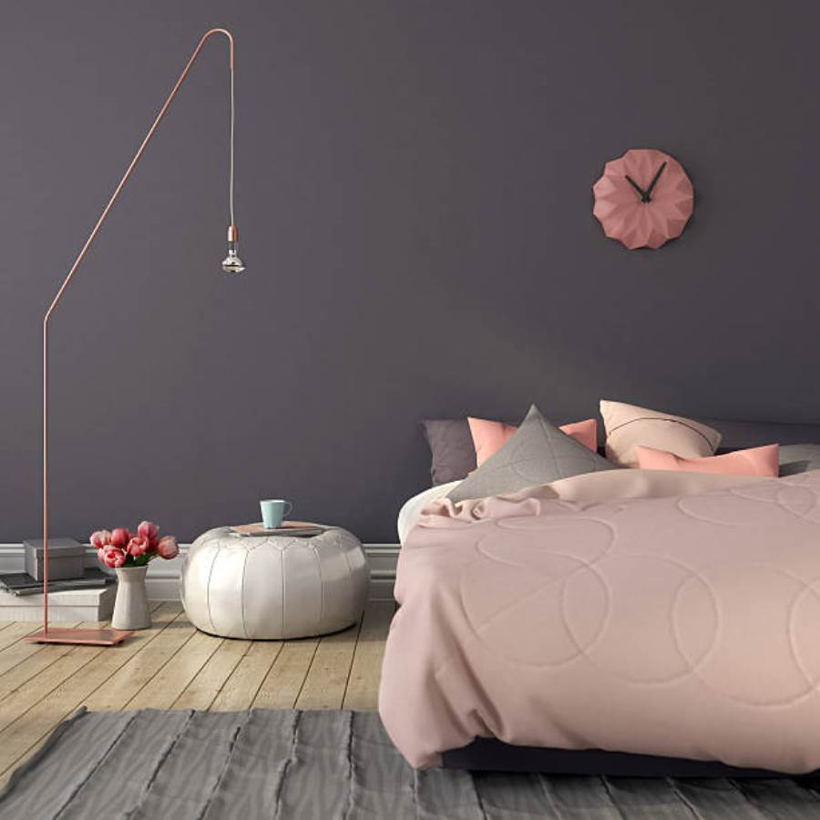 серо розовая спальня фото идеи
