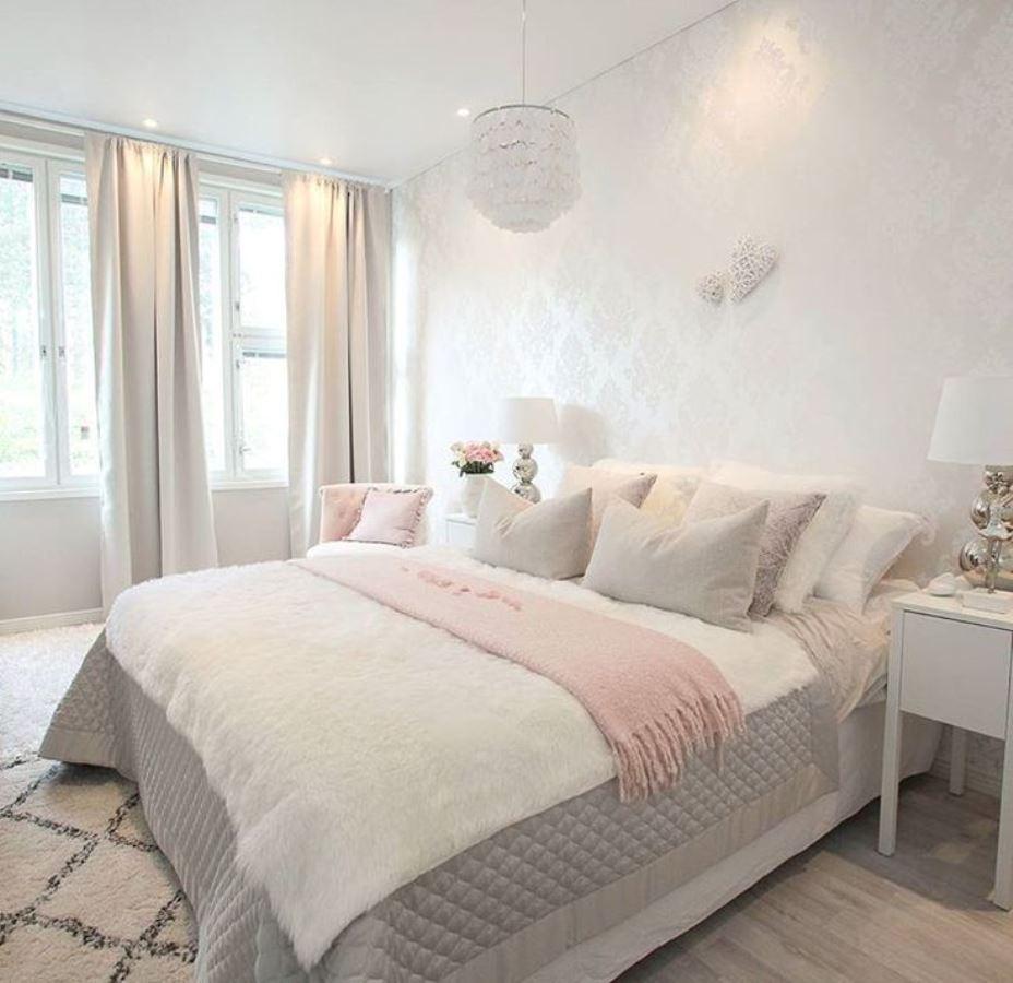 серо розовая спальня идеи дизайн