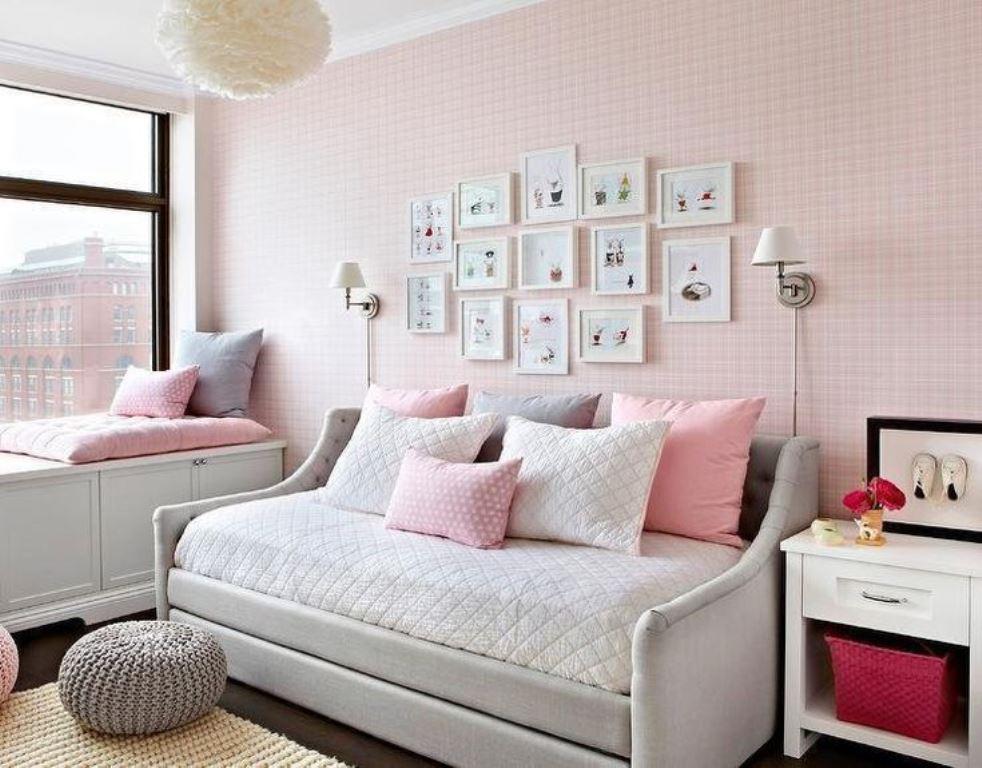 серо розовая спальня идеи дизайна