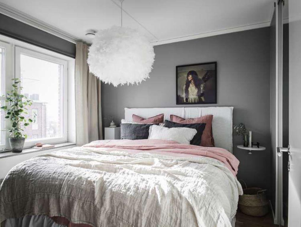серо розовая спальня идеи
