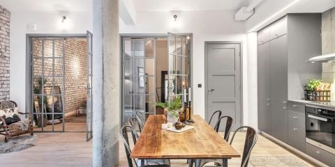 серые двери в дизайне интерьера