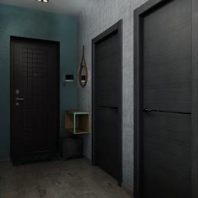 серые двери в квартире