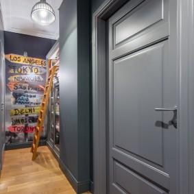 серые двери в квартире фото варианты