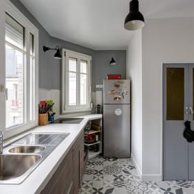 серые двери в квартире фото виды