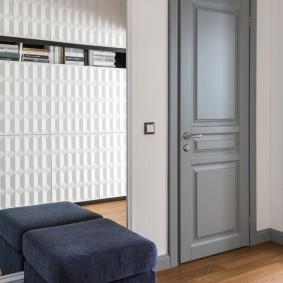 серые двери в квартире виды идеи
