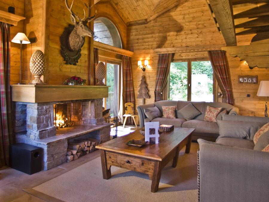 Интерьер дачного дома в стиле шале