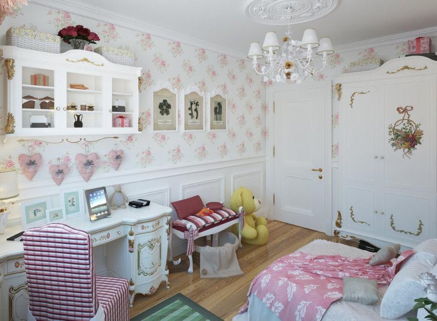 Комната для школьницы в стиле шебби-шик