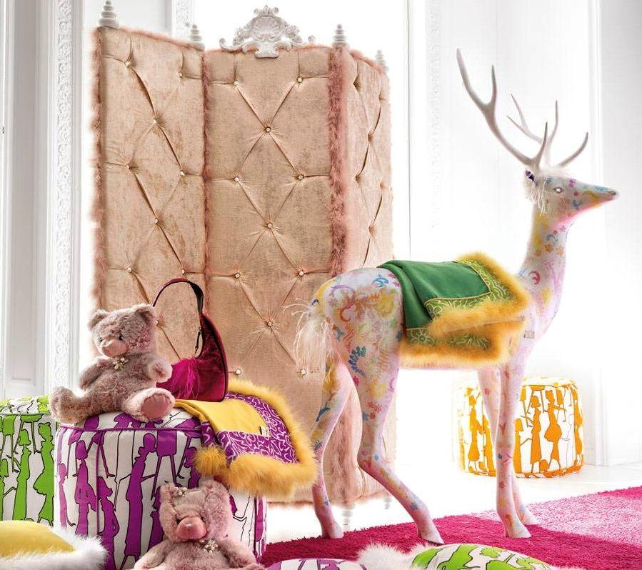 Мягкая ширма в интерьере детской комнаты