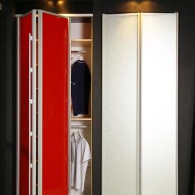Детский шкаф с дверью в виде гармошки