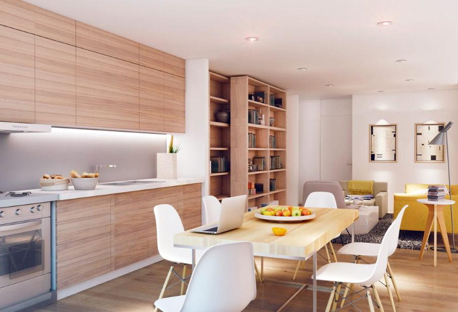 Дизайн хрущевки со встроенной мебелью