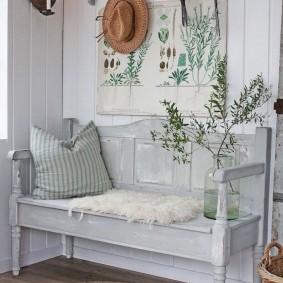 скамейка для прихожей прованс