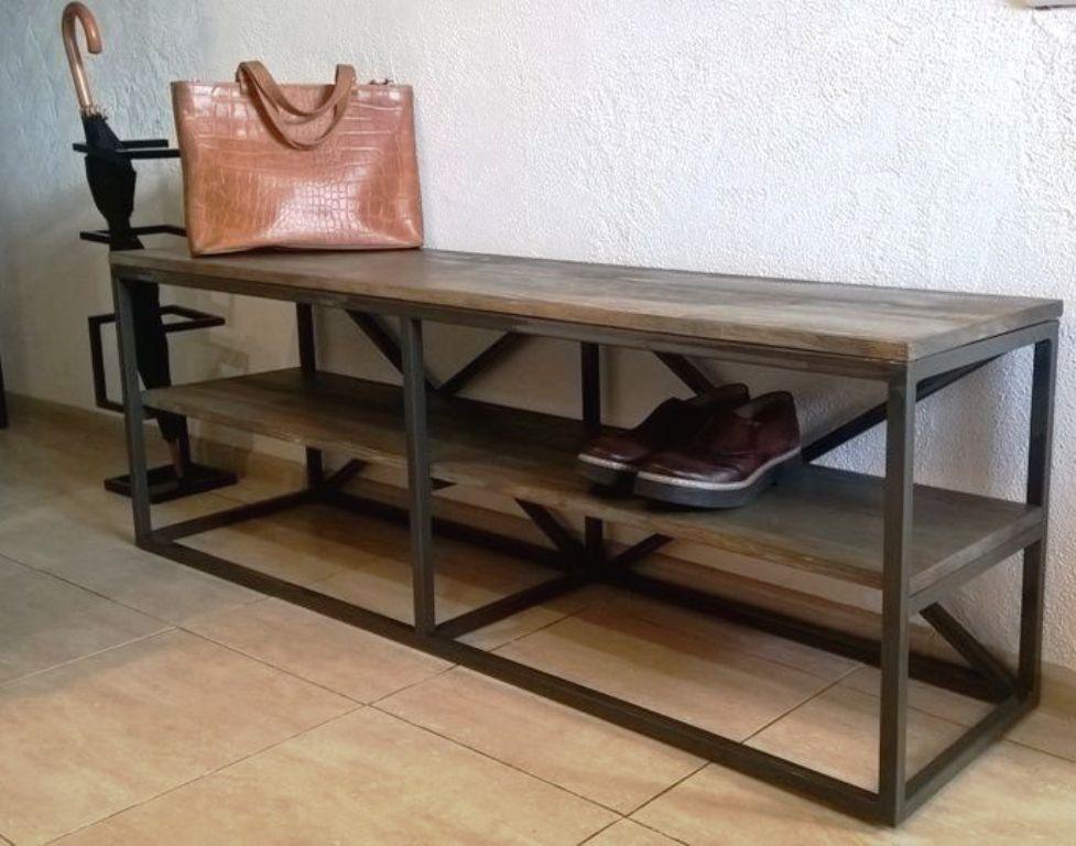 скамейки для прихожей металлическом каркасе