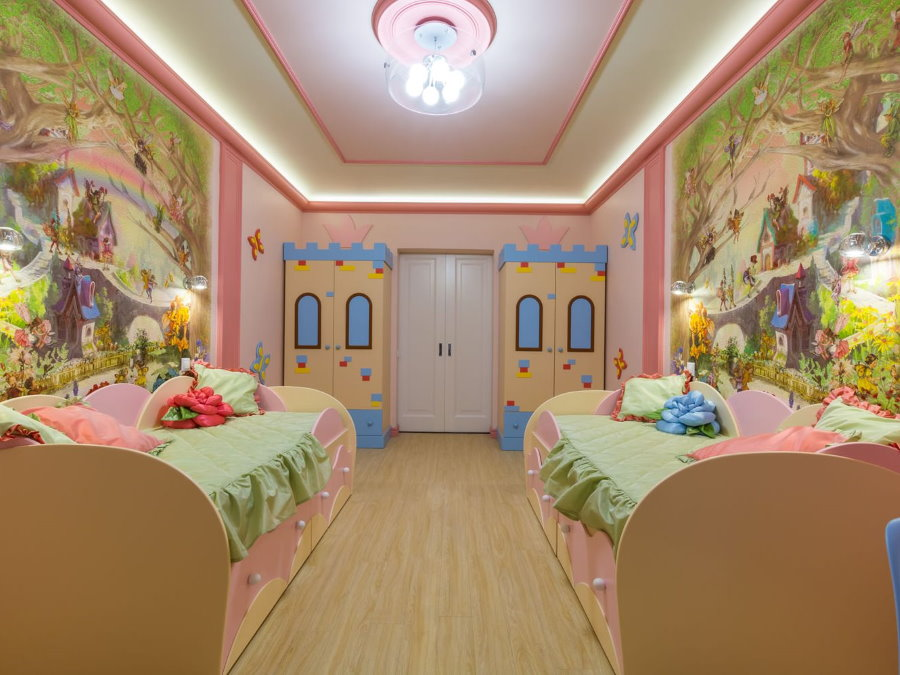 Спальня для двойни в стиле сказки