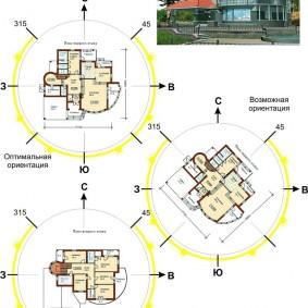 Схема размещения жилых комнат в двухэтажном доме