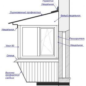 Схема выноса пола на узком балконе