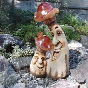 скульптуры для сада грибы