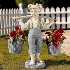 скульптуры для сада виды декора