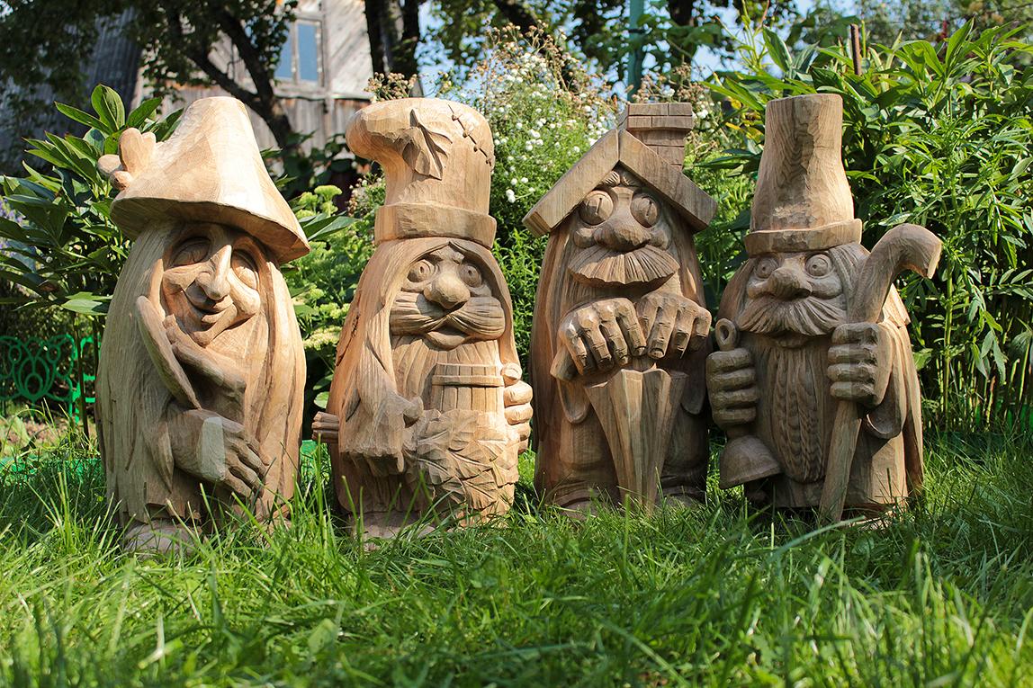 скульптуры для сада деревянные
