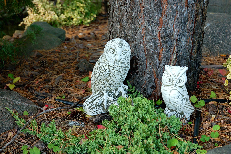 скульптуры для сада совы