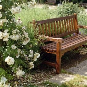 современная садовая скамья фото