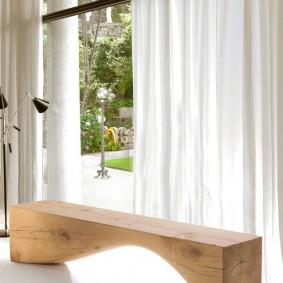 современная садовая скамья фото декор